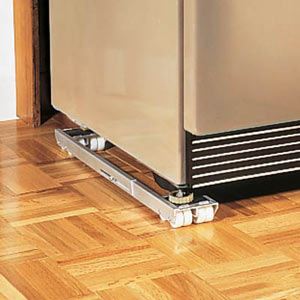 Use slider s or wheels for easier cleaning under appliances