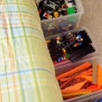 Organizing the kid's stuff too!