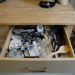 Kitchen organization – inside closed drawers