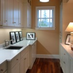 Laundry room storage and lighting… 2 must haves