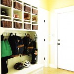 Organize that extra space into a mudroom!
