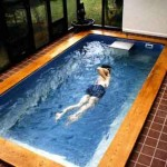 Swimming pool – get exercise, and takes little space