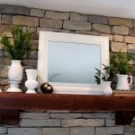 Fireplace mantel, add some touches of Spring