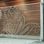 Architectural Fencing Inspires Gorgeous Wallpaper