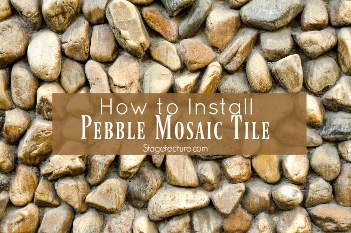 pebble mosaic tile ideas