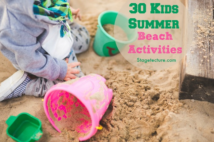 kids beach activities sand