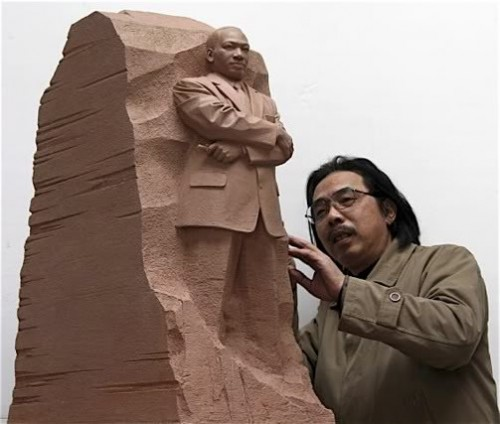 MLK_Statue and sculptor