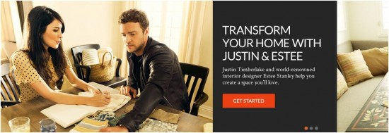 Justin Timberlake & Estee Stanley Curate Home Decor for Homemint (Video)