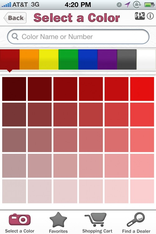 Ppg pittsburgh paints launchesthe voice of color mobile app for Homeowner selection sheet