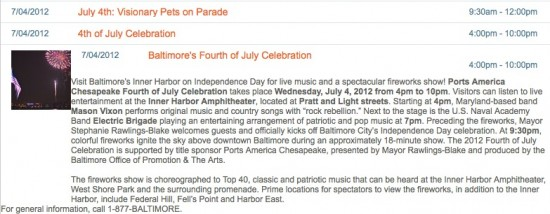 4th july Baltimore, Maryland