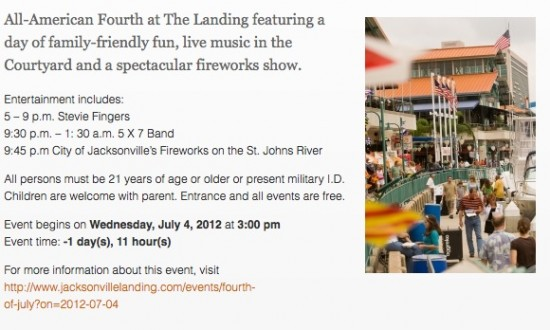 4th july jacksonville florida