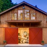 Sonoma County Redwood Barn Transformed into a Dream Studio