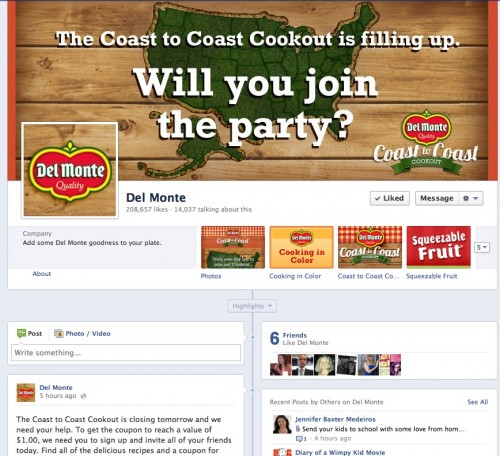 del monte facebook coast to coast