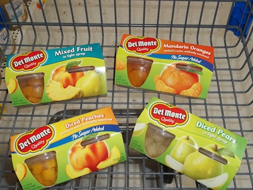 del monte fruits cart closeup