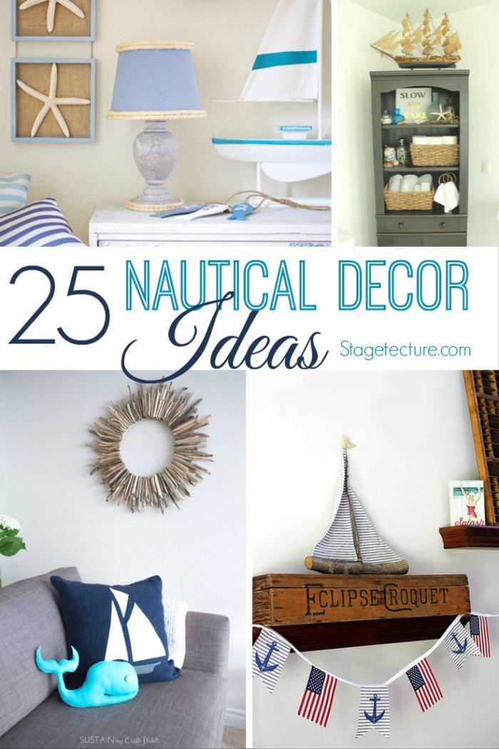 25 nautical decor ideas for your creative home for Nautical decor ideas
