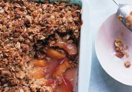Summer Peach Crisp with Maple Cream Sauce Recipe