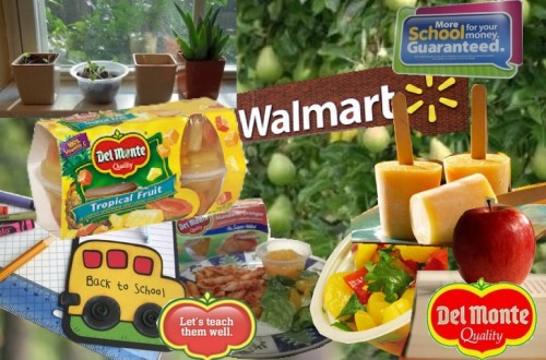 del monte fruit cups walmart collage