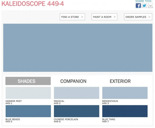 Kaliedoscope color PPG Paints