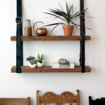 Give Life to Old Belts &#8211; DIY Recycled Leather and Wood Shelf