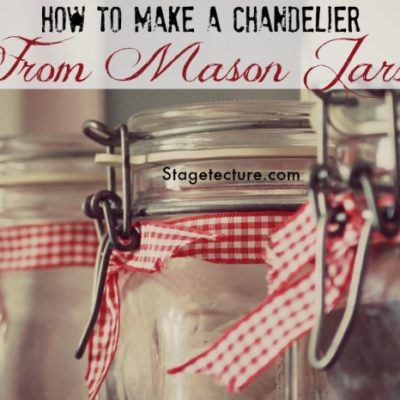 How to Make a Mason Jar Chandelier (Video)