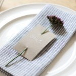 Simple DIY Craft: Custom Place Cards for your Guests
