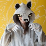 Create this Adult DIY Halloween Wolf Hoodie Costume