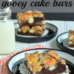 Halloween and Autumn Favorite: Candy Corn Gooey Cake Bars Recipe