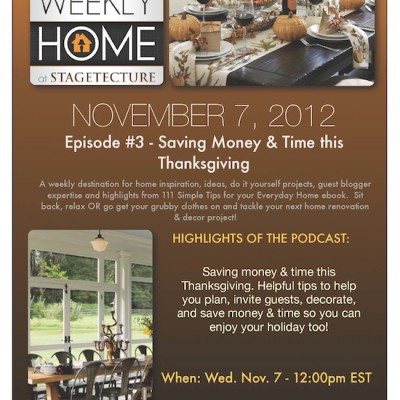 Stagetecture Radio: Saving Money & Time this Thanksgiving