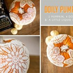 Thanksgiving Holiday Craft: DIY Doily Pumpkins Decor