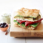 Simple Vegetable Focaccia Sandwich Recipe
