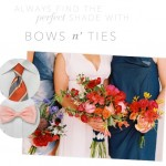 Matching the Perfect Shade Bows &#038; Ties with Wedding Colors
