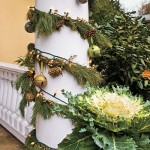 How to Use Holiday Garland to Decorate Outdoor Columns