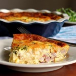 Savory Sunday Ham & Monterrey Cheese Quiche Recipe