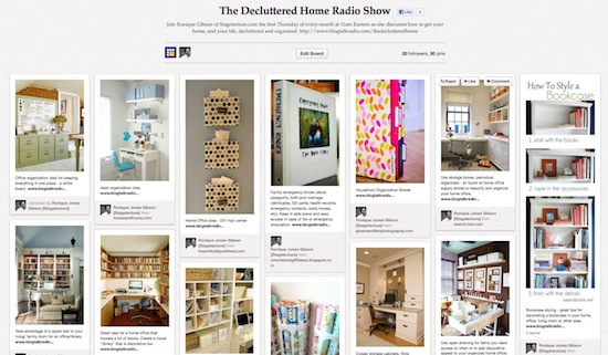 pinterest decluttered radio show