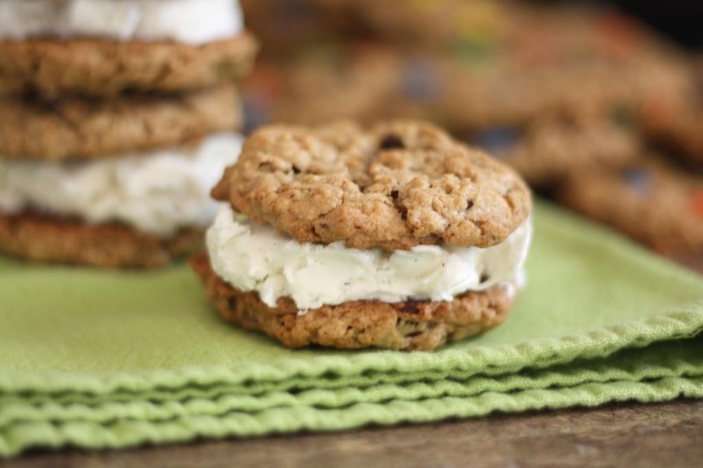 Classic Oatmeal Cookie Ice Cream Sandwiches Recipe