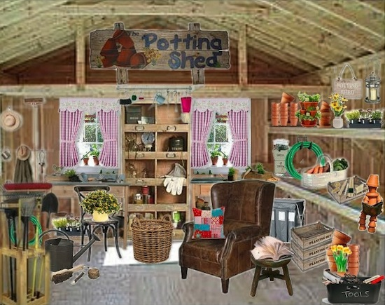 Olioboard Inspiration: Organizing your Spring Potting Shed