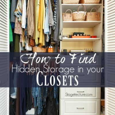 How To Find Hidden Storage In Your Reach-In Closet