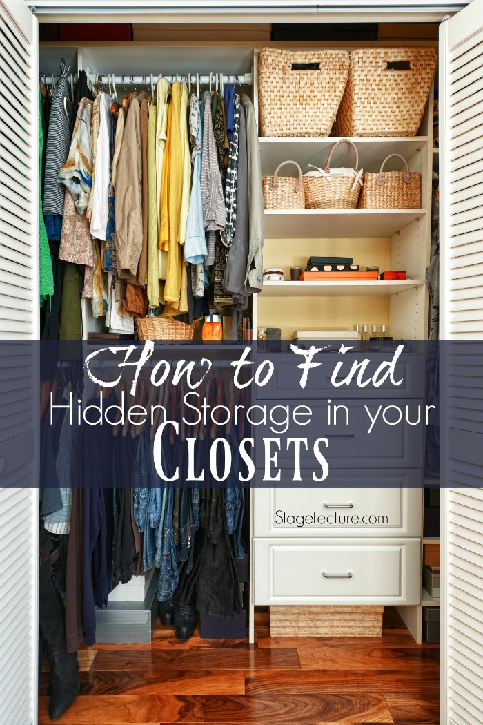 hidden storage closet ideas