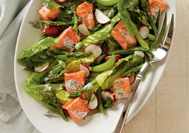 Colorful Recipe: Spring Salmon and Vegetable Salad