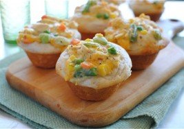 Simple Family Dinner: Chicken Pot Pie Muffins Recipe