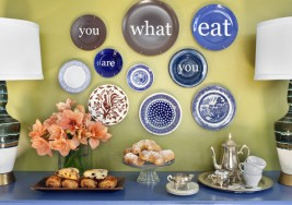 DIY Decor Idea: How to Create an Inspiring Plate Wall