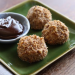 Toasted Pecan Ice Cream Balls w/ Hot Fudge Dipping Sauce Recipe