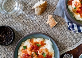 Southern Gumbo Gravy over Stone-Ground Grits Recipe