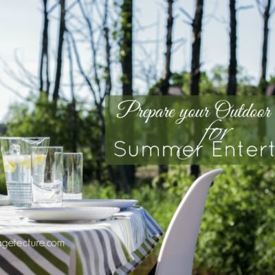 Prepare your Outdoor Garden Area for Summer Entertaining