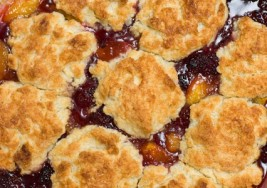 Spring Inspired Peach Blackberry Cobbler Recipe