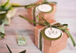 DIY Wedding Idea: Floral  Wedding Favor Boxes