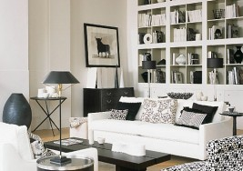 How to Create a Modern Black and White Living Room