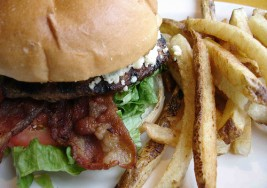 Savory Bleu Cheese and Bacon Hamburgers Recipe