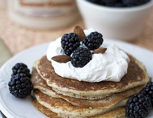 Summer Ripened Blackberry Buttermilk Pancakes Recipe
