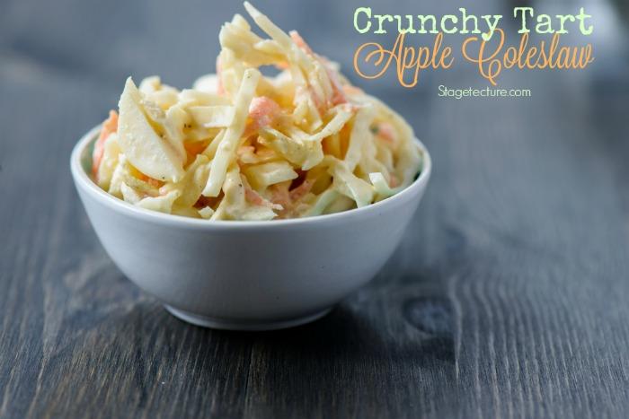crunchy tart apple coleslaw